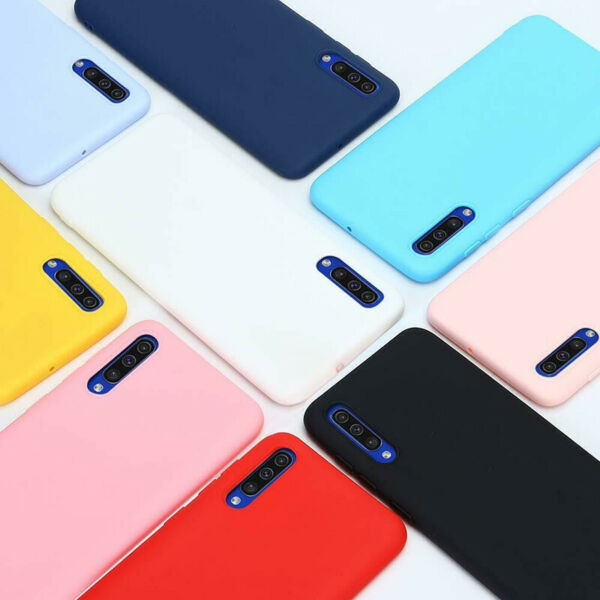 For Samsung Galaxy A20 A50 A70 Case Shockproof Matte Silicone TPU Mate 30 Cover