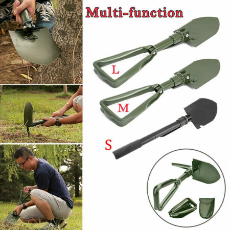 img-Portable Folding Shovel Spade Camping Garden Hiking Emergency Survival Kit Metal