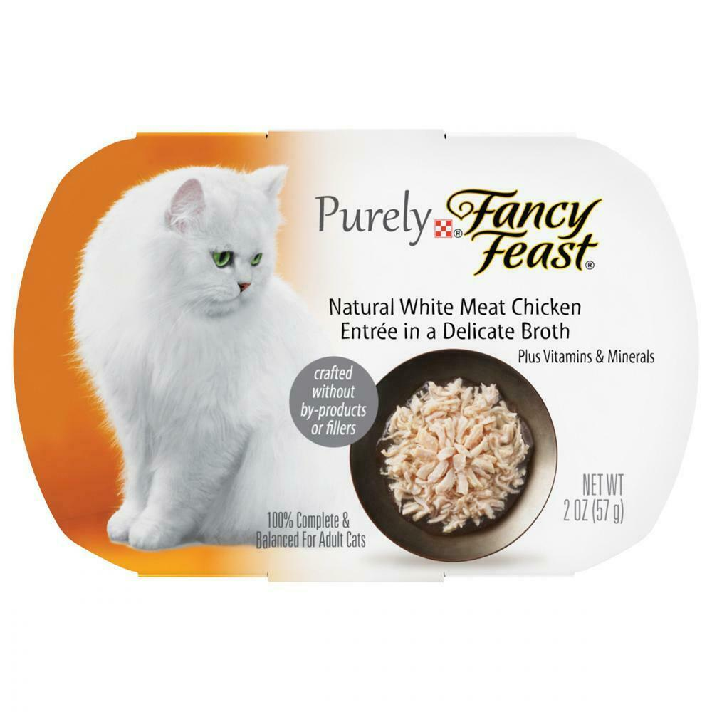 Purina Fancy Feast Purely Natural White Meat (10) 2 Oz. Trays, Chicken