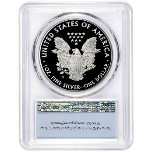 2019-S Proof $1 American Silver Eagle PCGS PR70DCAM First Strike Flag Label