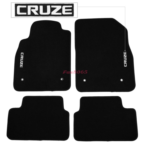 Fits 08-16 Chevrolet Cruze Black Nylon Floor Mats Carpets w/ Embroidery