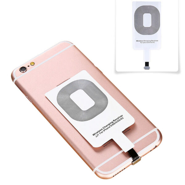 Qi Wireless Charger Adapter Charging Receiver For iPhone Samsung Andriod TypeLFI