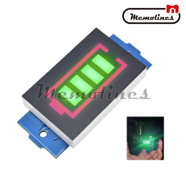 1S/2S/3S/4S/5S/6S/7S Battery Capacity Indicator Green Module Li-ion Power Level