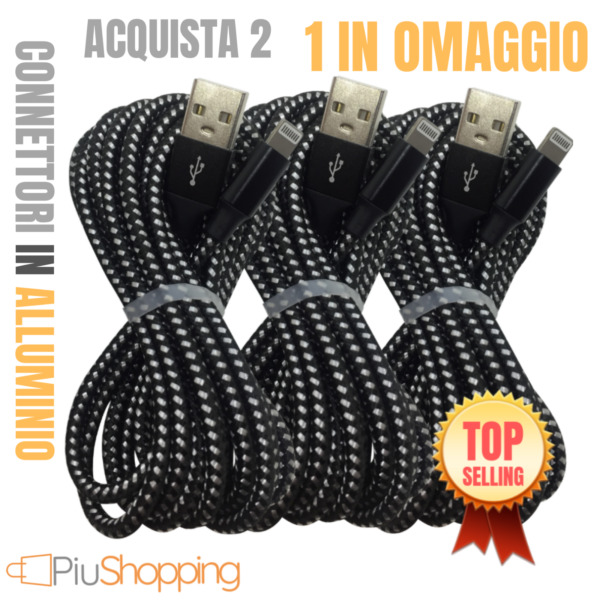 CAVO DATI USB RICARICA LIGHTNING CARICATORE PER APPLE IPHONE 6S 7 8 X XS MAX XR