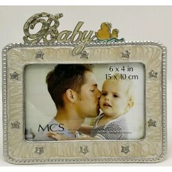 """Kyпить Baby 6"""" x 4"""" Picture Frame by MCS Design Ducks Stars Crystals Silver на еВаy.соm"""
