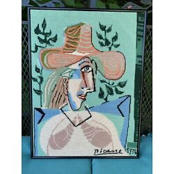 Kyпить Picasso Abstract Needlepoint Framed 20 X 15 на еВаy.соm
