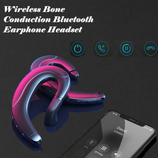 Ear Bluetooth Bone Conduction Headphones Stereo Wireless Earphone Headset MIC