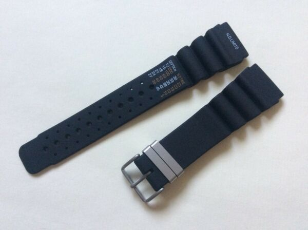 Cinturino in gomma per Citizen Aqualand anse 22, 24mm rubber watch band strap
