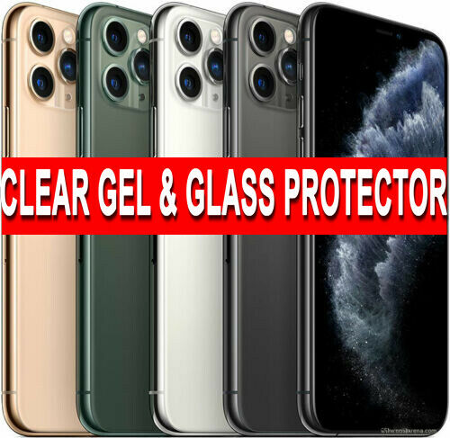 360 Case For iPhone 11 Pro Max Ultra Slim Clear Gel Cover Glass Screen Protector