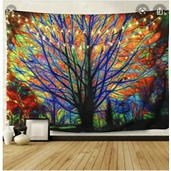 Kyпить BLEUM CADE Colorful Tree Tapestry Wall Hanging 51x59 на еВаy.соm