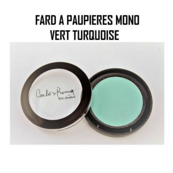 OMBRE FARD A PAUPIERES MONO VERT TURQUOISE MAT EYESHADOW MAQUILLAGE YEUX FAR818