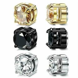 Kyпить Stainless Steel Magnetic Stud Earrings for Womens Mens  Non-Piercing Clip On на еВаy.соm