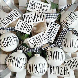 Farmhouse Style Vinyl Decals for Ornaments and Decor