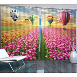 Ocean Colorful Flowers 3D Curtain Blockout Photo Printing Curtains Drape Fabric