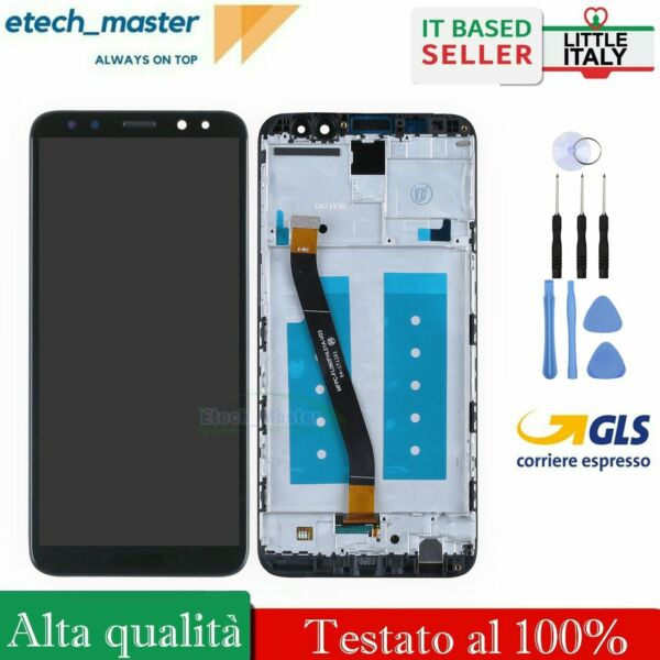 LCD DISPLAY PER HUAWEI MATE 10 LITE RNE-L01 RNE-L21 NOVA 2I SCREEN NERO FRAME
