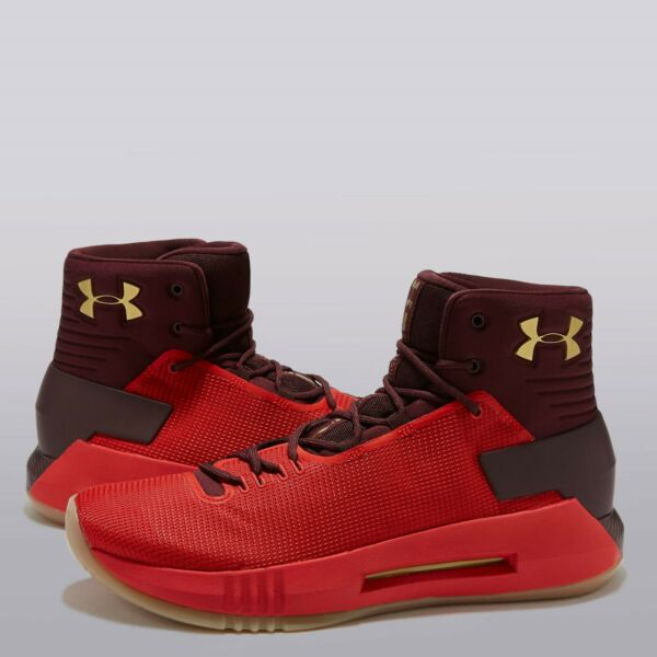 R3 Under Armour Drive 4 Basketball Shoe - Red - Mens UK 9