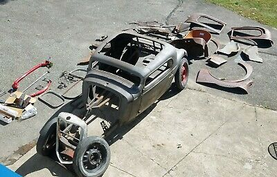 1934 Oldsmobile 3 window coupe hot rod project rat hotrod traditional salt flats