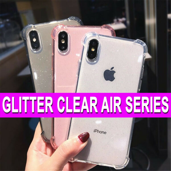 Apple iPhone 11 Pro Max CASE Bling GLITTER Clear Slim Silicone Shockproof Cover