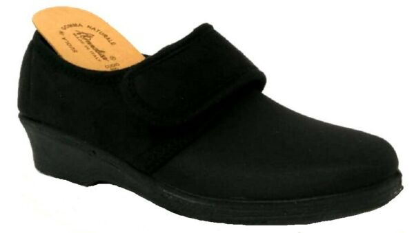 ANNALISA pantofole, scarpette inverno donna ART. 211 NERO MADE IN ITALY slippers