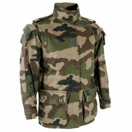 img-French Army FELIN T4S2 Tactical Military Combat Jacket Ripstop CCE Camo 88cm