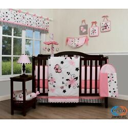 Kyпить 13PCS New Pink Butterfly Baby Nursery Crib Bedding Sets  Holiday Special на еВаy.соm
