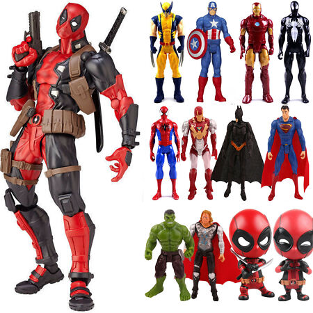 img-Deadpool Spiderman Captain America Marvel Avengers PVC Action Figures Gifts Toys