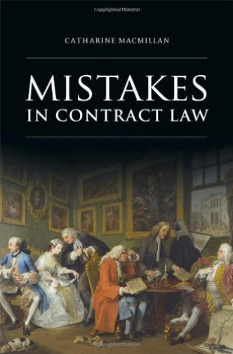 Royaume-UniMacmillan -Mistakes In Contract Law BOOKH NEUF