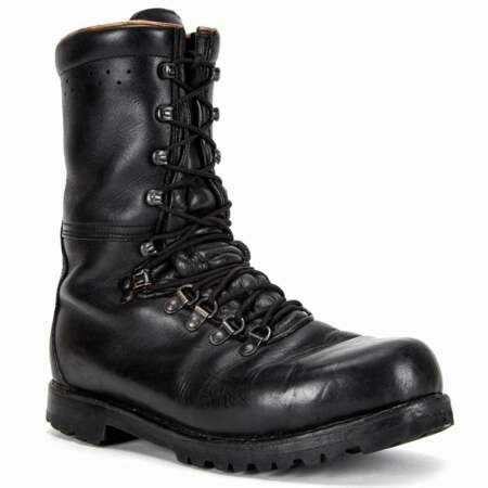 img-Austrian Army Black Leather Combat Boots Fully Lined Genuine Military Surplus