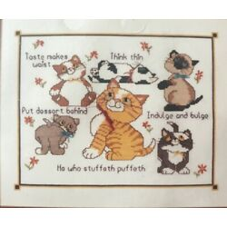 Studio M Your Needlecraft Connection Counted Cross Stitch Kit - CAT'S DIET