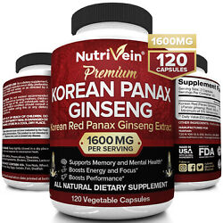 Kyпить Nutrivein Korean Red Panax Ginseng 1600mg - 120 Caps - High Strength Ginsenoside на еВаy.соm