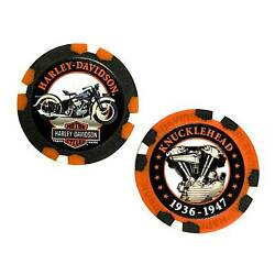 Harley-Davidson Limited Edition Series #4 Poker Chips - 2 Chips Included 6704D