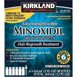 Kyпить Kirkland Minoxidil 5% Solution Hair Loss Regrowth Treatment Extra Strength на еВаy.соm