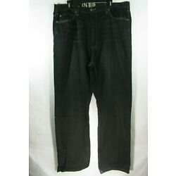 ***Men's 626 Blue Size 41 x 34 Black Relaxed Fit Jeans 5 Pockets