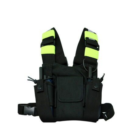 img-Tactical Holster Vest Rig Bag Pocket Radio Chest Harness Chest Front Pack Pouch