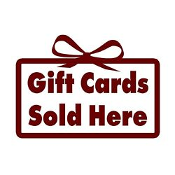 Gift Cards Sticker - Sold Here Decal - Choose Color Size