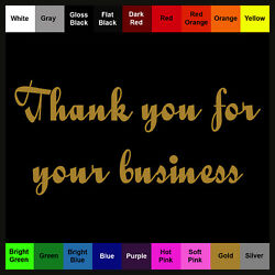 Thank you Sticker - Business Sign Decal