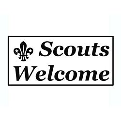 Scouts Welcome Sticker - Home Business Retailer Welcome Decals