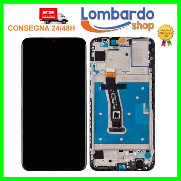 DISPLAY LCD TOUCH SCREEN VETRINO PER HUAWEI P SMART 2019 POT-LX1 POT-LX2 AL00