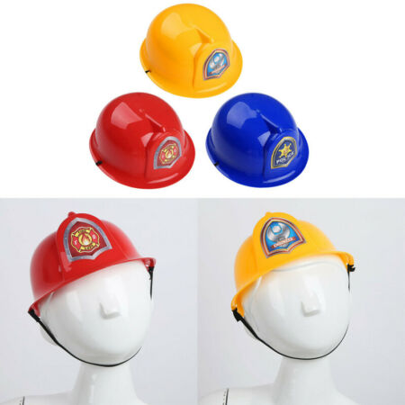 img-Kids Children Hard Plastic Fireman Police Engineer Hat Pretend Role Play Helmet