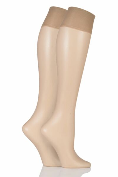 Royaume-UniLadies 2 Pair Charnos Simply Bare Knee Highs