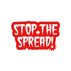 Stop The Spread Sticker Vinyl Decal - Choose Color Size