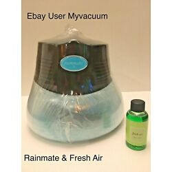 ONLY BUY SEALED! NEW BLACK Rainbow Rainmate LED Purifier & Fresh Air Scent