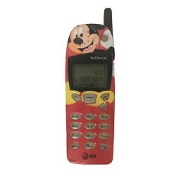 Kyпить NOKIA 5160 MICKEY MOUSE RED VINTAGE WORKING CELL PHONE W/ CHARGER на еВаy.соm