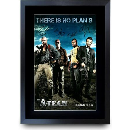 img-The A-Team Liam Neeson Bradley Cooper Gifts Poster Signed Picture for Movie Fans