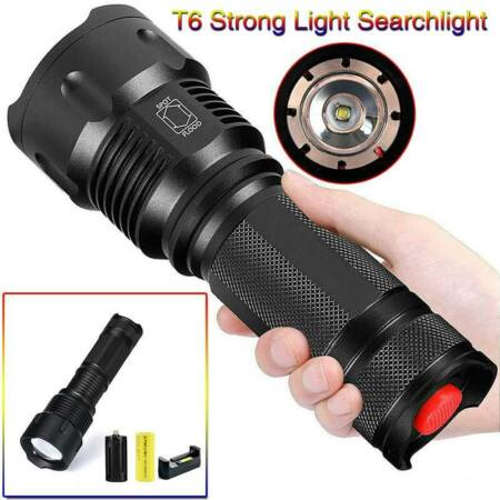 img-50000lm T6 USB Rechargeable Flashlight LED Tactical Work light Torch Lamp UK