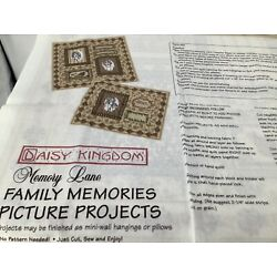 Daisy Kingdom Family Memories Picture Projects Mini Wall Hanging Or Pillows 1998