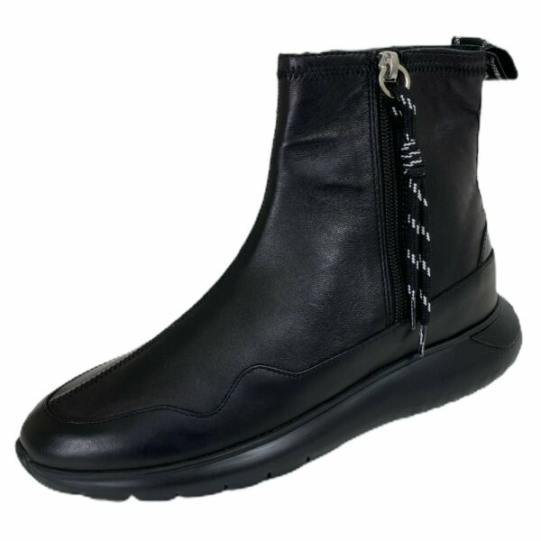 ItalieC16 stivaletto donna HOGAN H371 3 ZIP black boots women