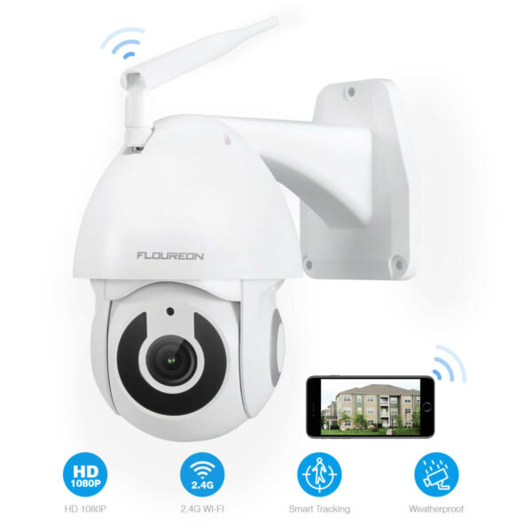 TELECAMERA 1080P HD WIRELESS ESTERNA IP CAMERA MOTORIZZATA IR INFRAROSSI WIFI