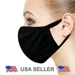 Kyпить Black Face Mask DOUBLE LAYER Reusable & Washable Unisex SOFT Protective Cool на еВаy.соm
