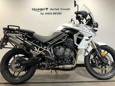 2019 Triumph TIGER 800 XRT Top Spec XRT, Fully Loaded and Panniers  Petrol white